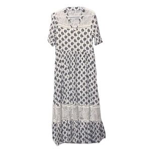 Mia Joy White & Black Boho Dress - 5 (Girls)